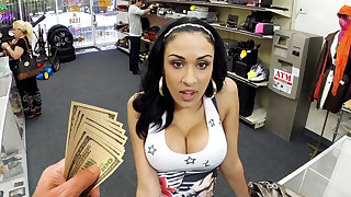 Young latina chick making out for money