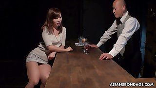 Japanese bitch Aihara Miho is fucked, creampied added to jizzed by several clients