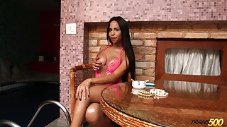 Smoking hot tanned nympho Grazie Cinturini loves smoking and posing in lingerie