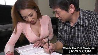 Perfect Japanese Mommy And Stepson Studyi - HD video
