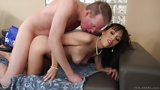 Dick-hungry Alana Cruise gets a wide bushwa in the brush tight ass