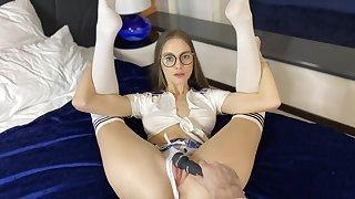 Schoolgirl and yoga fantasies with your slutty girlfriend
