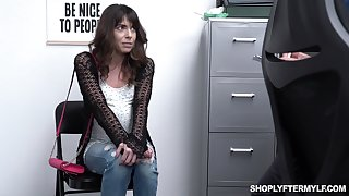 Shoplifting milf Vera King is fucked and jizzed by sheet anchor guy