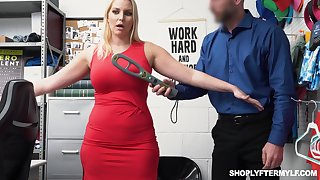 Gorgeous milf Vanessa Cage gets fucked and jizzed of shoplifting