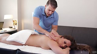 Erotic massage curves on Chanel Preston and she wants to be fucked