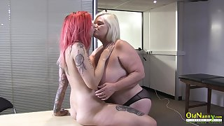 OldNannY British Mature and Lesbian Take off