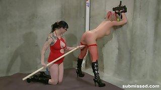 Intense lesbian bondage session concerning Bella Vendetta and Twenty