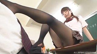 Tiro video of a lucky guy having sex with a freakish Asian tutor