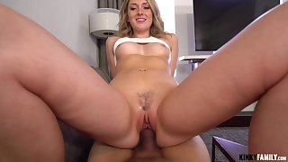 Dick hungry nympho Charlotte Sins gets caught up about lust with her stepbrother